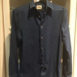 Acne men's navy shirt. Size 50 (small)